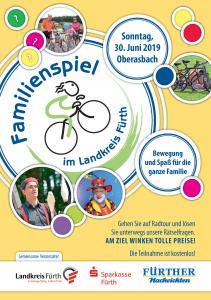 Das Familienspiel am 30 Juni in Oberasbach lockt mit zwei Radtouren, vielen Attraktionen und einem bunten Rahmenprogramm. Kooperation von Landkreis Fürth, Sparkasse Fürth und Fürther Nachrichten.