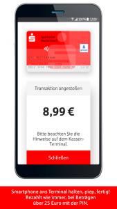 Mobiles Bezahlen ist, neben der neuen Echtzeit-Überweisung und dem Handy-zu-Handy-Bezahlverfahren Kwitt, ein neuer, innovativer Service, den Sparkassen-Kunden auf Wunsch nutzen können.