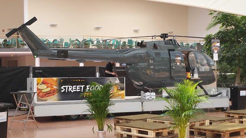 Kulinarisch gelandet: Helikopter als Foodtruck