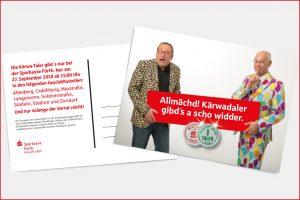 Postkarte - Auf die Fürther Kirchweih mit dem Kärwa-Taler.