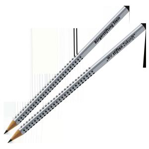 Zugunsten der Bürgerstiftung Stein wird ein Stift-Set von Faber-Castell zum Editionspreis von 4 Euro verkauft.