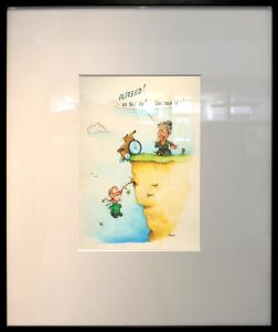 Vom 6. bis 28. Juni stellt der ausgezeichnete Karikaturist Philipp Hubbe seine Cartoons zum Thema Behinderungen und Inklusion in der Sparkasse Fürth aus.