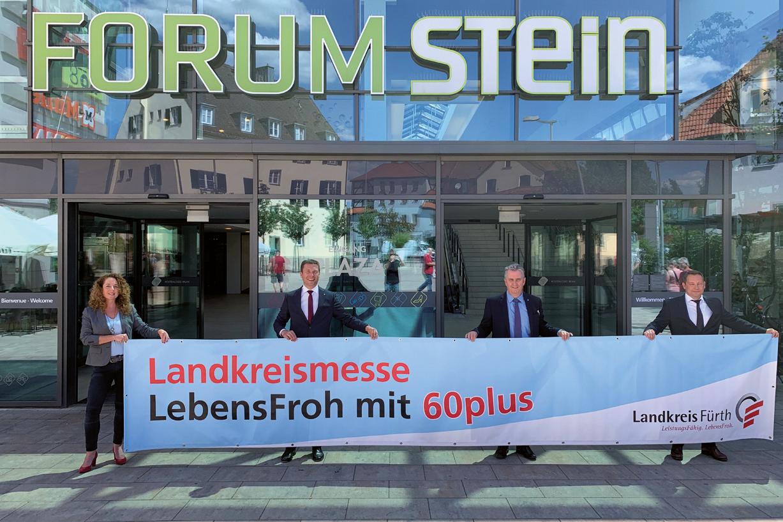 """Die 4. Landkreismesse """"LebensFroh mit 60 plus"""" findet erneut im FORUM STEIN statt. Die Sparkasse Fürth ist mit vielen Informationen vor Ort."""