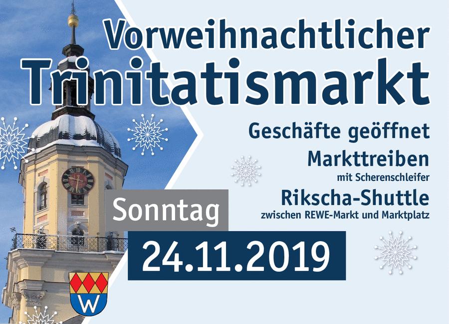 Die Bürgerstiftung Wilhermsdorf lädt im Rahmen des Trinitatismarktes am Sonntag, 24.11.2019 ab 11:30 Uhr, ins Ritterhaus. Verweilen bei Kaffee und selbstgebackenen Kuchen.